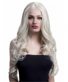 Luxe pitspoes pruik blond
