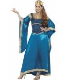 Luxe prinsessen jurk blauw