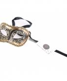 Luxueus italiaans oogmasker goud zwart