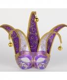 Luxueus oogmasker paars met lila