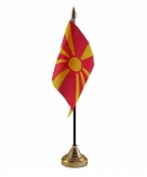 Macedonie versiering tafelvlag 10 x 15 cm