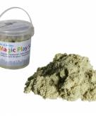 Magisch zand zandkleur in emmer
