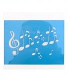 Make up sjabloon muzieknoten