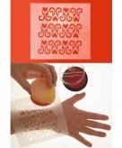 Make up sjabloon ornament met hart