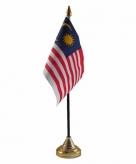 Maleisie versiering tafelvlag 10 x 15 cm