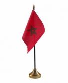 Marokko versiering tafelvlag 10 x 15 cm
