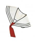 Matroos kraag met stropdas wit