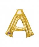 Mega grote gouden ballon letter a