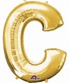 Mega grote gouden ballon letter c