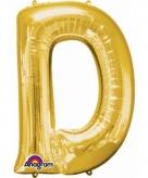 Mega grote gouden ballon letter d