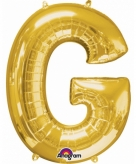 Mega grote gouden ballon letter g