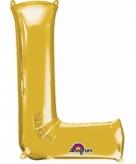 Mega grote gouden ballon letter l