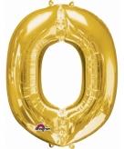 Mega grote gouden ballon letter o