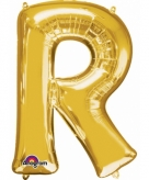 Mega grote gouden ballon letter r