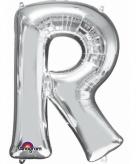 Mega grote zilveren ballon letter r