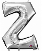 Mega grote zilveren ballon letter z