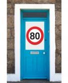 Mega poster 80 jaar verkeersbord