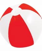 Mega rood witte strandbal 150 cm opblaasbaar