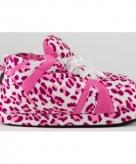 Meisjes sportschoen pantoffels luipaard roze