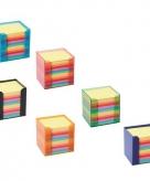 Memoblokje met gekleurd papier