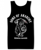 Merchandise sons of anarchy tanktop heren zwart