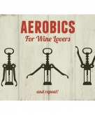 Metalen plaatje aerobics for wine lovers 15 x 20