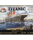 Metalen plaatje decoratie titanic 10071000