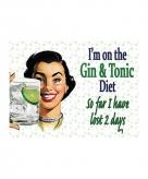 Metalen plaatje gin dieet