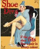 Metalen plaatje schoenen diva
