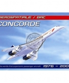 Metalen plaatje vliegtuig concorde