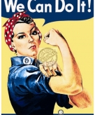 Metalen plaatje we can do it