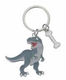 Metalen sleutelhanger t rex 5 cm