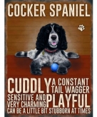 Metalen wand bord cockerspaniel