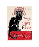 Metalen wand bord le chat noir