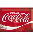 Metalen wandplaatje coca cola