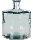 Mica flesvormige bloemenvazen decoratie vazen boeketvazen 21 x 26 cm transparant glas