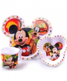 Mickey mouse kinder servies 3 delig