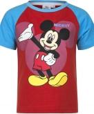 Mickey mouse shirt korte mouw rood blauw voor jongens