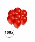 Mini ballonnen rood metallic 100 stuks