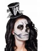Mini skelet hoedje op haarband