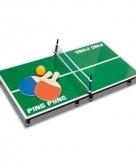 Mini tafeltennis spel hout