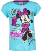 Minnie mouse shirt korte mouw blauw voor meiden