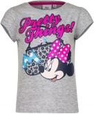 Minnie mouse shirt korte mouw grijs voor meiden