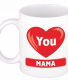 Moederdag i love you mama beker mok keramiek 300 ml