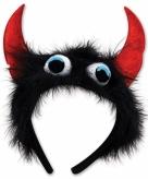 Monster verkleed diadeem zwart rood