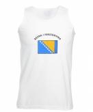 Mouwloos t-shirt met bosnie vlag mouwloos t-shirt