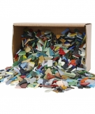 Mozaiek glas diverse kleuren 8 20 mm 2 kg