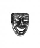 Narrenmasker zilver zwart