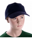 Navy blauwe kinder caps