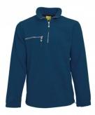 Navy fleece trui met ritskraag voor volwassenen